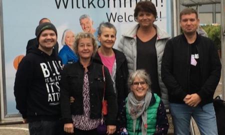 Mitarbeitende der Stiftung bei der REHACARE in Düsseldorf